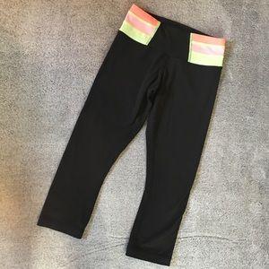 Lululemon Reversible Black Crop Legging